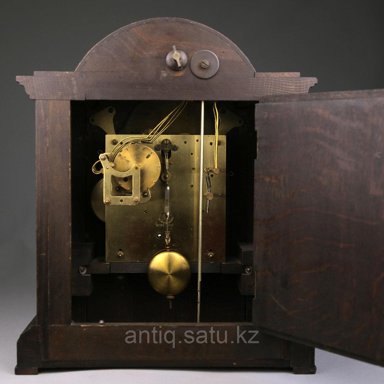 Настольные голландские часы с лунным календарем. Часовая мастерская Junghans. - фото 6