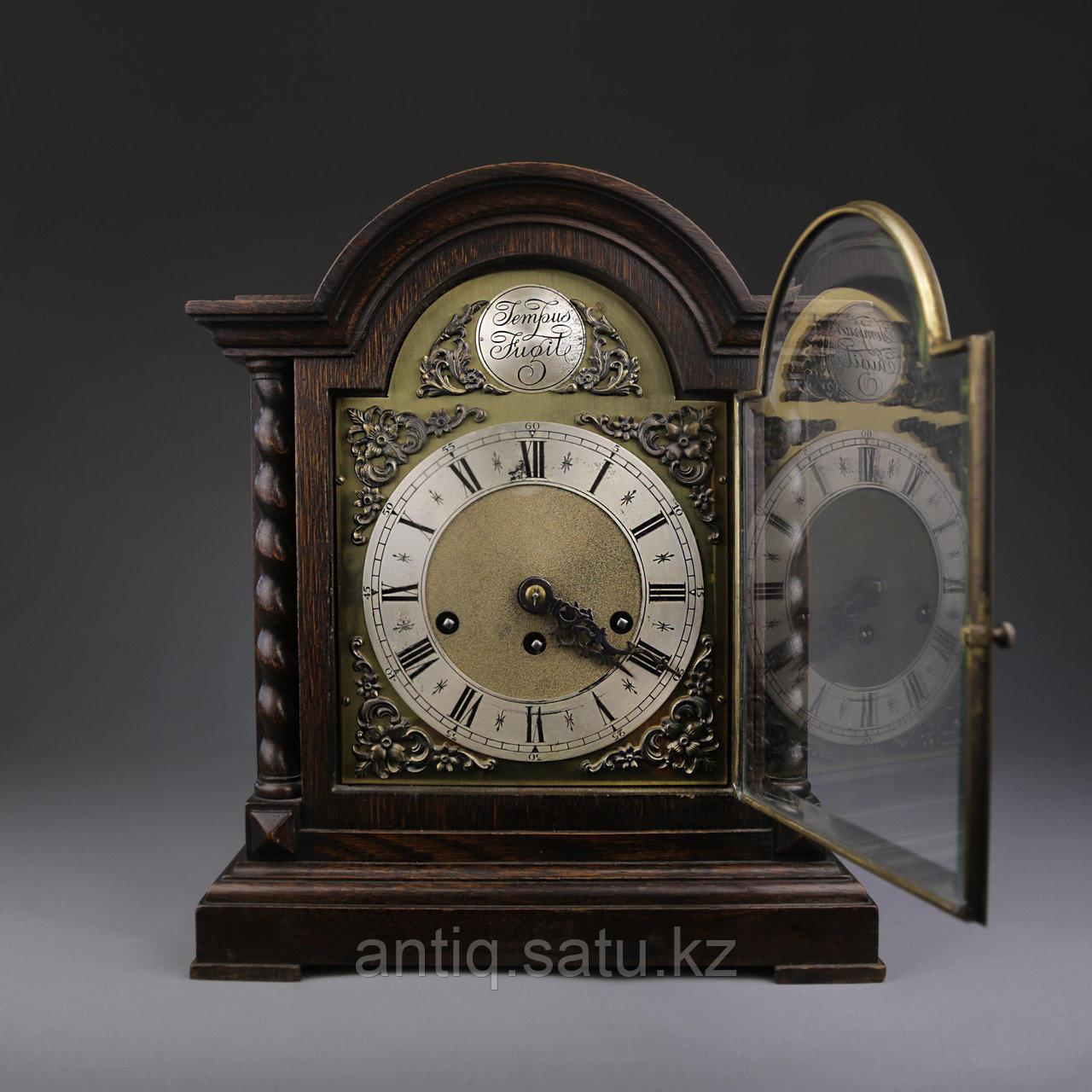 Настольные голландские часы с лунным календарем. Часовая мастерская Junghans. - фото 2