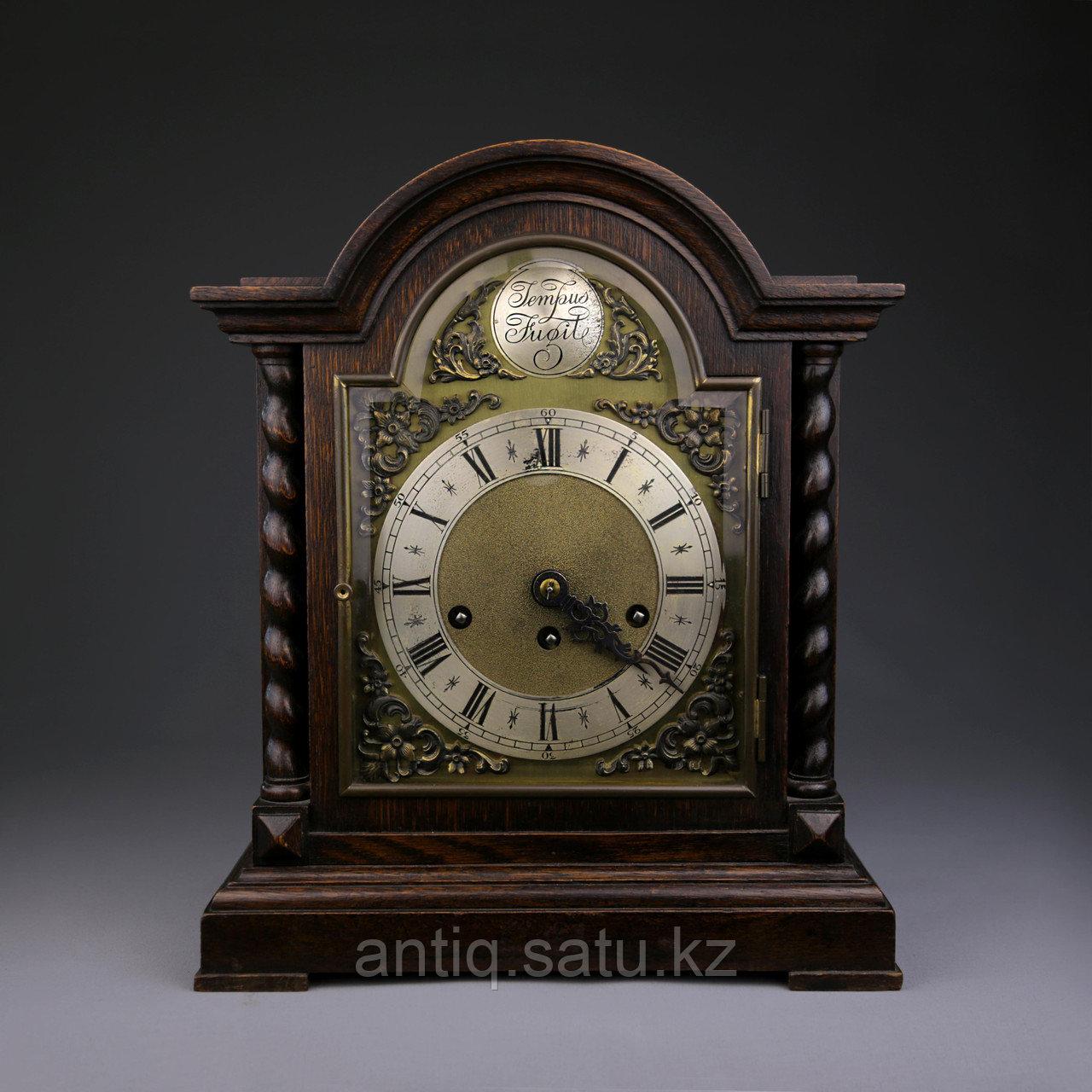 Настольные голландские часы с лунным календарем. Часовая мастерская Junghans. - фото 8