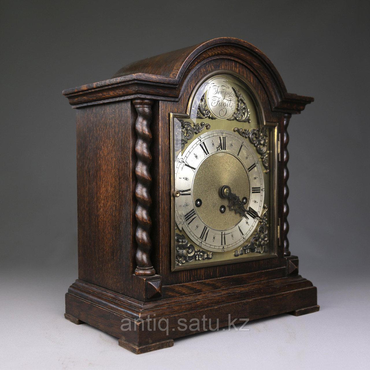 Настольные голландские часы с лунным календарем. Часовая мастерская Junghans. - фото 3