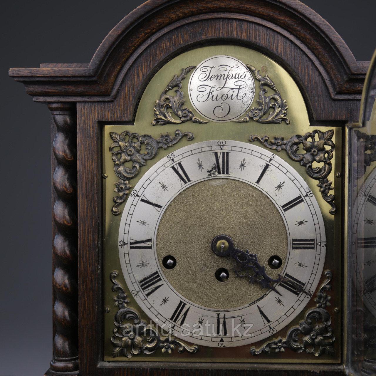 Настольные голландские часы с лунным календарем. Часовая мастерская Junghans. - фото 4