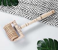 Массажер деревянный, 28 см, бук