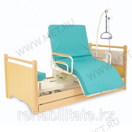 Кровать с ПОВОРОТНЫМ КРЕСЛОМ, для лежачих больных МЕТ RAUND UP.