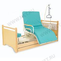 Кровать с ПОВОРОТНЫМ КРЕСЛОМ, для лежачих больных МЕТ RAUND UP., фото 1