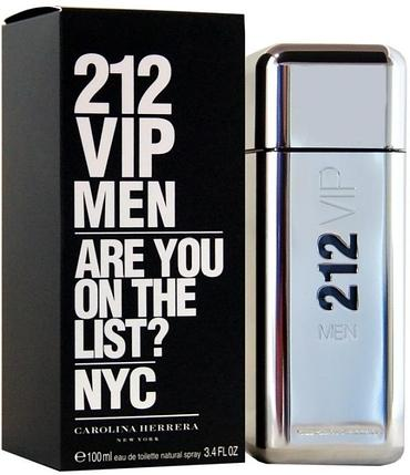 Туалетная вода 212 VIP Men Carolina Herrera для мужчин 100ml, фото 2