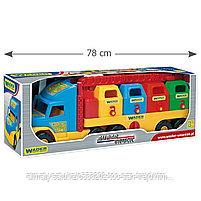 Машинка игрушечная мусоровоз c контейнерами Wader Super Truck, фото 3