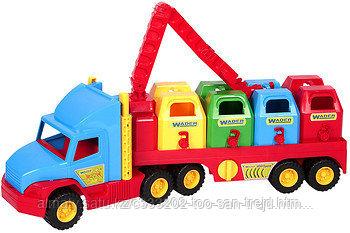 Машинка игрушечная мусоровоз c контейнерами Wader Super Truck