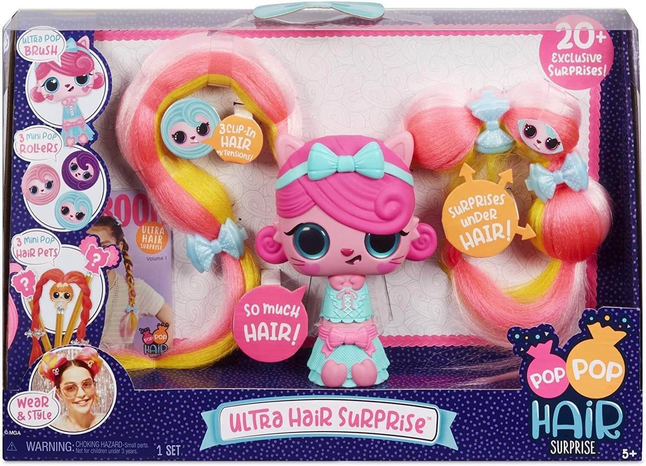 Pop Pop Hair Большой набор сюрприз 3 в 1 Модная прическа Ultra Hair Surprise with 20 Surprises