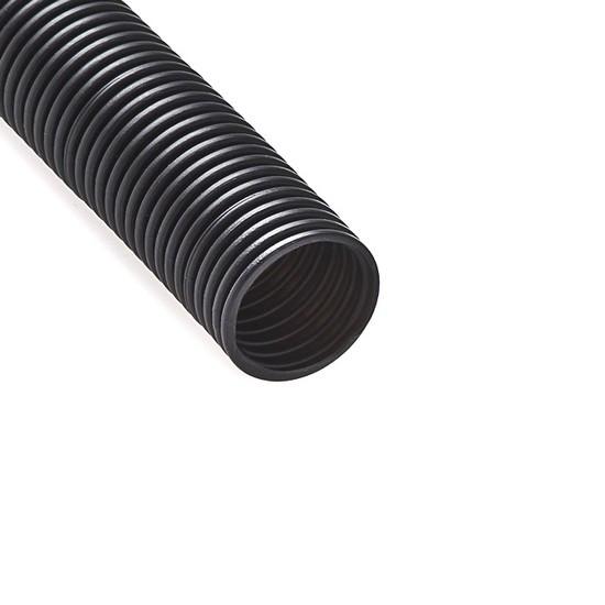 Труба гофрированная РУВИНИЛ 24001 (40мм, ПНД, с зондом легкая, Безгалогенная, Black, 15 м/б)