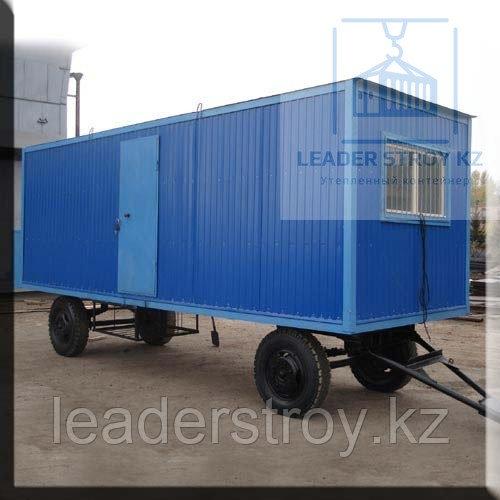 Вогончик бытовка на колесах шасси 6 метровые