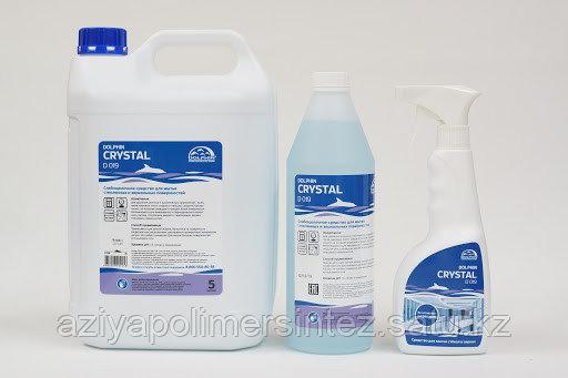 Средство для мытья стеклянных и зеркальных поверхностей Dolphin Crystal 1000 л ( еврокуб )