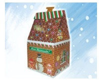 Коробка для новогодних подарков. Сундучок Избушка Деда Мороза, фото 2