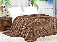 Плед -покрывало/ травка, размер 2,0 спальный, цвет шоколадный