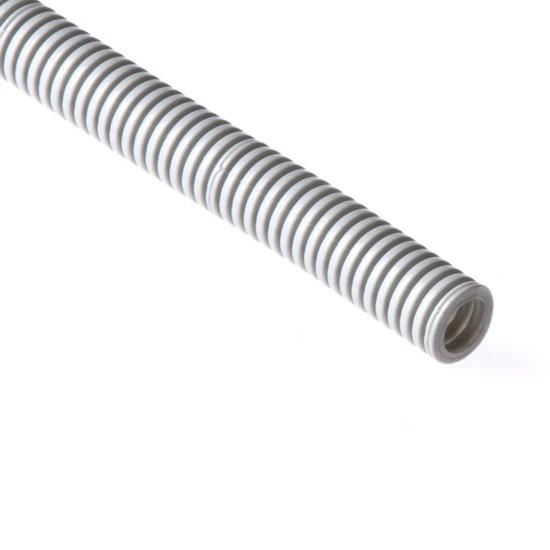 Труба гофрированная, РУВИНИЛ, 11601, 16мм, ПВХ, с зондом легкая, Серый, 100 м/б