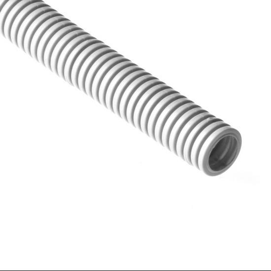 Труба гофрированная, РУВИНИЛ, 12001, 20мм, ПВХ, с зондом легкая, Серый, 100м/б