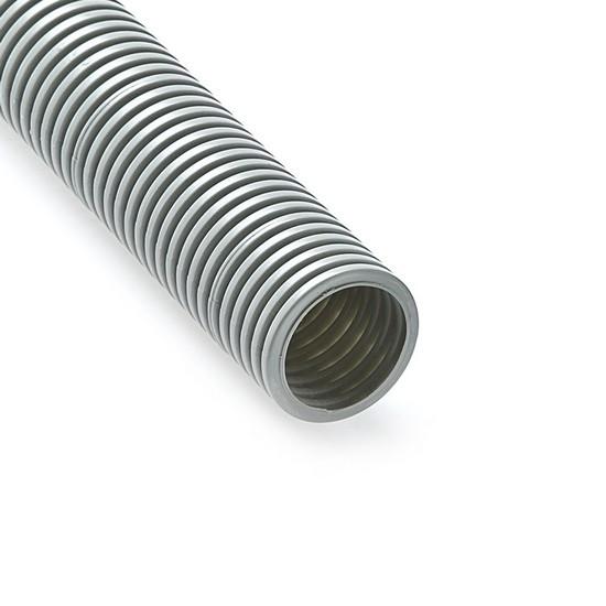 Труба гофрированная, РУВИНИЛ, 14001, 40мм, ПВХ, с зондом легкая, Серый, 15 м/б
