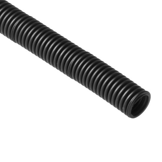 Труба гофрированная, РУВИНИЛ, 22001, 20мм, ПНД, с зондом легкая, Безгалогенная, Чёрная, 100 м/б