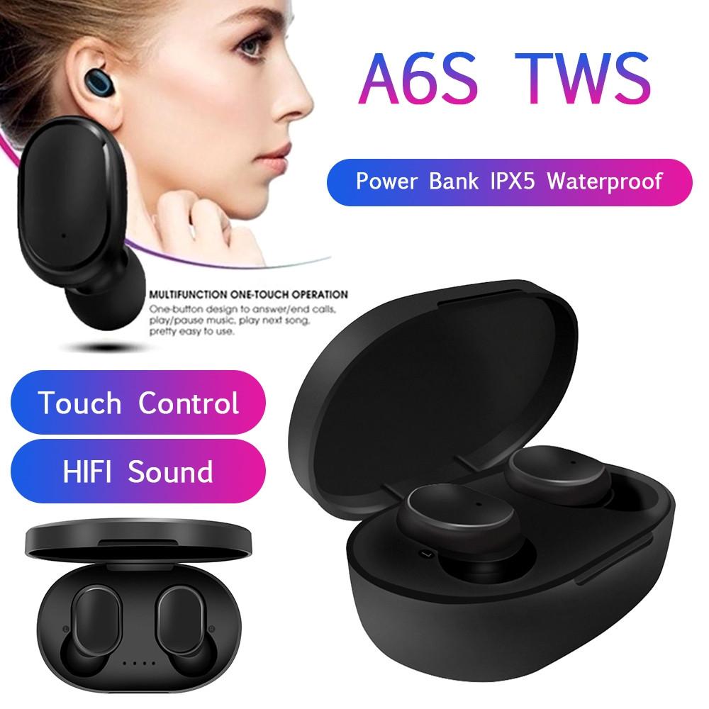 Беспроводные Наушники Bluetooth A6S Airdots TWS Earbuds. Бесплатная доставка - фото 1