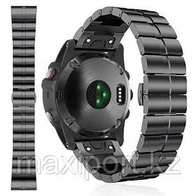 Роскошный ремешок для Garmin Fenix 6X 6X Pro solar 5X Plus Band 26 мм браслет с застежкой-бабочкой Сталь