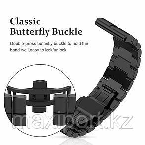 Роскошный ремешок для Garmin Fenix 6X 6X Pro solar 5X Plus Band 26 мм браслет с застежкой-бабочкой Сталь, фото 2