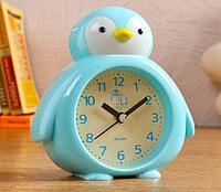 """Часы настольные """"Пингвин"""", d=7 см, 1 АА, дискретный ход, микс"""