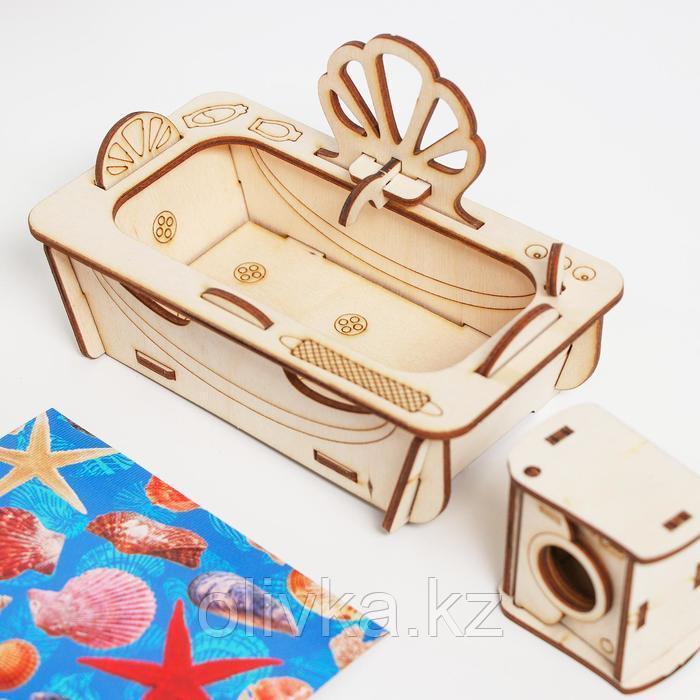 Конструктор арт. КМ-8, Мебель для кукол «Ванная. Ракушки» - фото 2