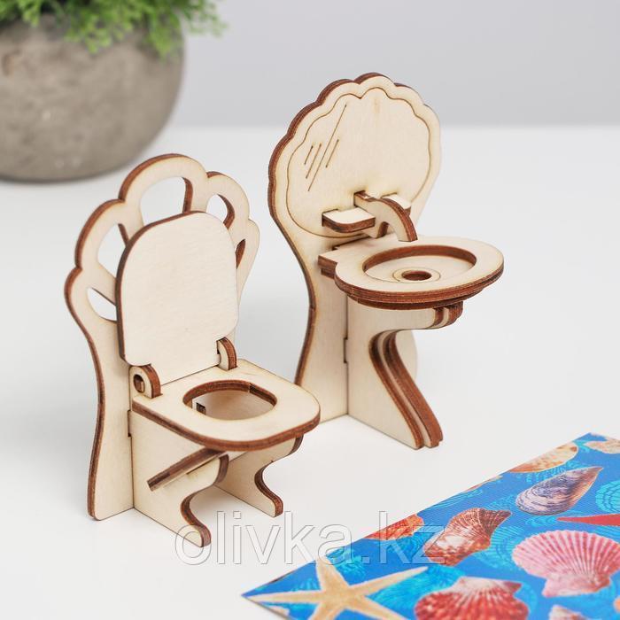 Конструктор арт. КМ-8, Мебель для кукол «Ванная. Ракушки» - фото 3