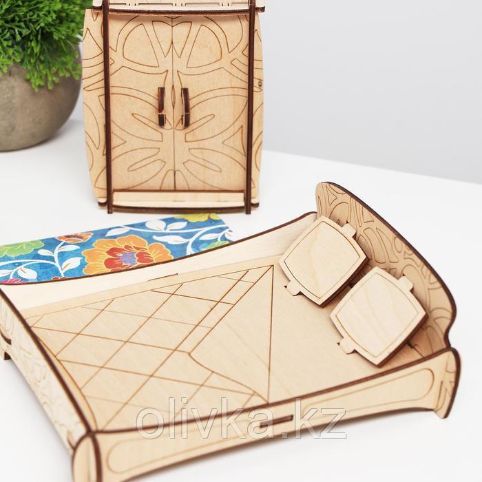 Конструктор арт. КМ-9, Мебель для кукол «Спальня. Цветочки» - фото 3