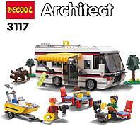 3117 Констр. Отдых на природе (можно собрать 3 модели: автобус,дом,катер) JISI BRICKS ARCHITECT 59*35см, фото 1