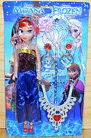 4S817 Фрозен кукла с аксесс. на картонке 2вида, 34*20см