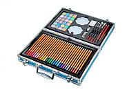 Набор художника 128 предметов в железном кейсе с ручкой