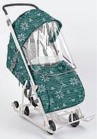Санки коляска Ника Умка 3 - 1 вязанный скандинавский узов, фото 1