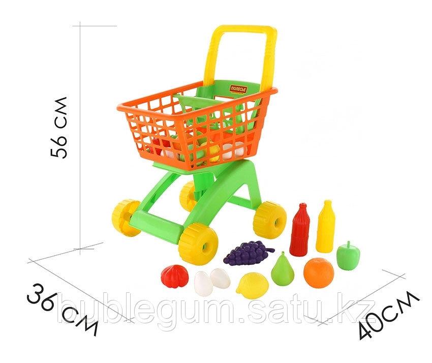 Тележка для маркета + набор продуктов №7 (10 элементов) - фото 2