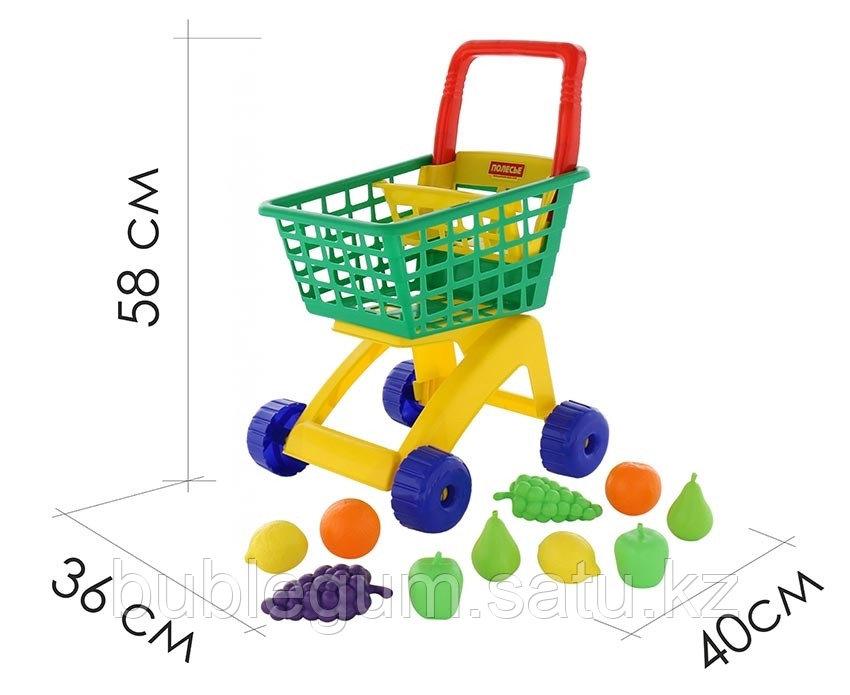 Тележка для маркета + набор продуктов №7 (10 элементов) - фото 1