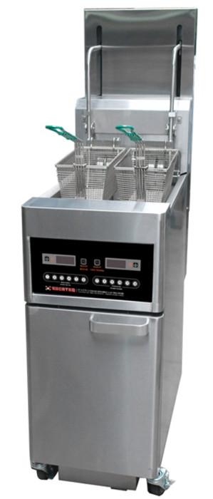 Фритюрница напольная автоматическая с 2 ваннами 14 л Kocateq EFL2TC