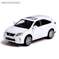 Машина металлическая Lexus RX450, открываются двери, капот, багажник, инерция, цвет белый