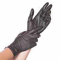 Перчатки виниловые  черные