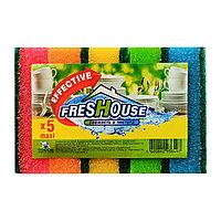 Губка для посуды Freshouse Effective Maxi,  5 штук