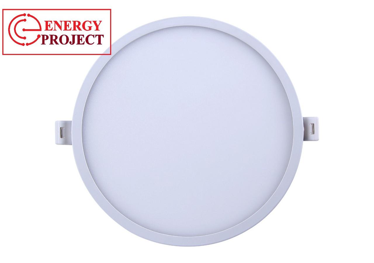 Светодиодная панель круглая внутренняя 24Вт d 300мм 1500Лм 6400К