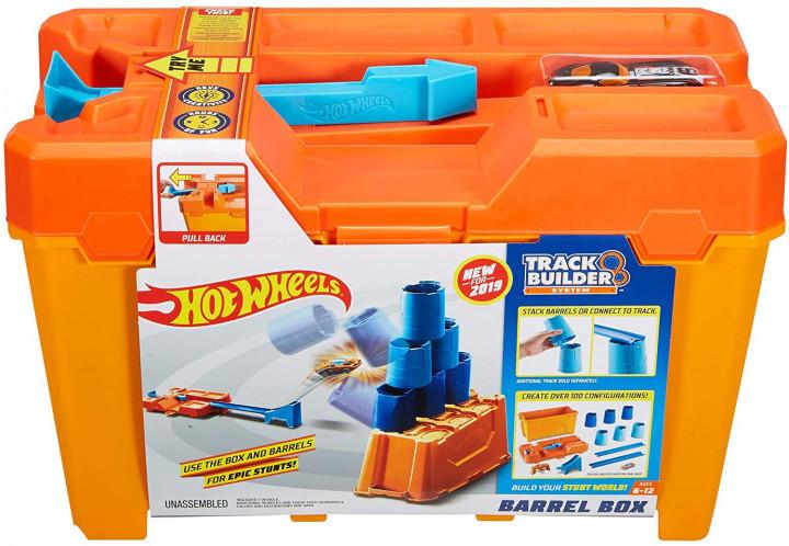 """Hot Wheels """"Коробка для трюков"""" Набор с бочками, Хот Вилс Конструктор трасс"""