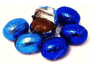 Шоколадные яйца (Синие) молочный шоколад   1кг