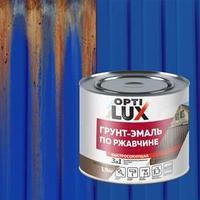 Грунт-эмаль OPTILUX по ржавчине 3 в 1 синяя 1,9кг
