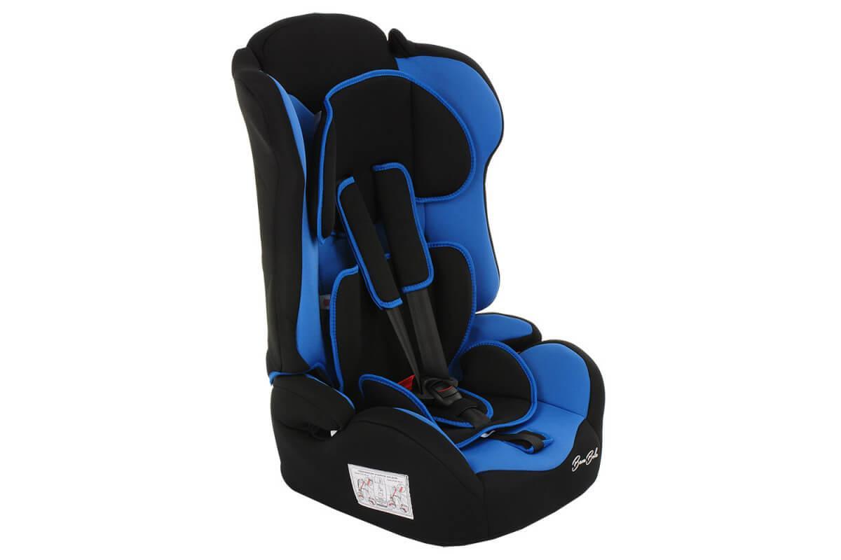 BAMBOLA Удерживающее устройство для детей 9-36 кг PRIMO Черный/Синий 2шт/кор