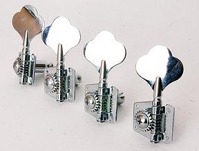 Комплект колковой механики для бас-гитары, 4 левых, Caraya MB-3001-CR