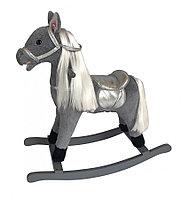 Качалка-лошадка Pituso длинная грива коричневый GS3043