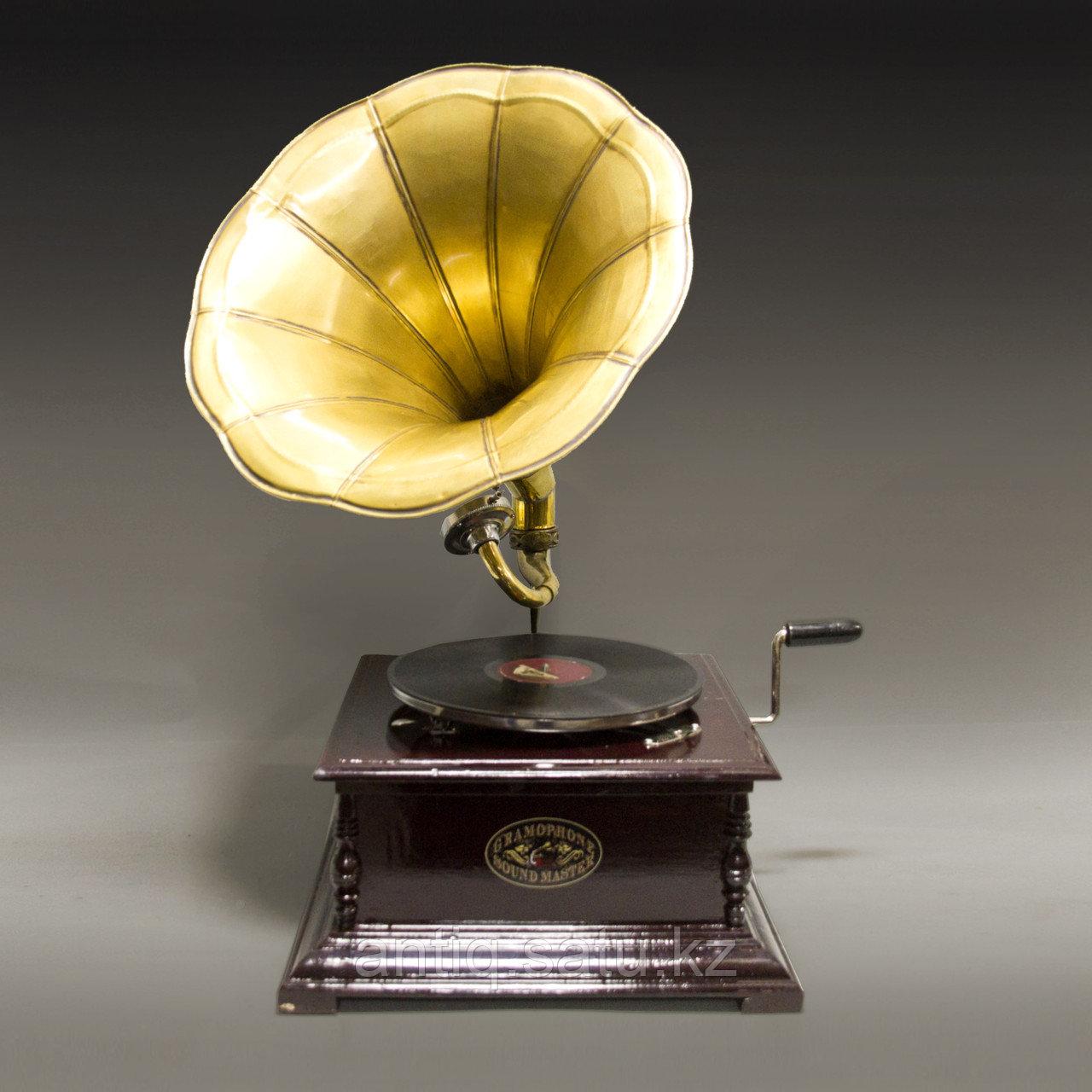 Голландский граммофон. 5 старинных пластинок в подарок покупателю. - фото 1