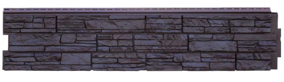 Фасадная панель Уголь (ACA) 306x1487 мм GL (Я-Фасад) Крымский сланец