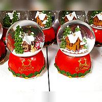 Новогодние шары со снегом музыкальные с подсветкой (15см), фото 1