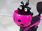 Детский самокат Scooter с родительской ручкой и сидением, фото 7