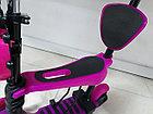 Детский самокат Scooter с родительской ручкой и сидением, фото 8